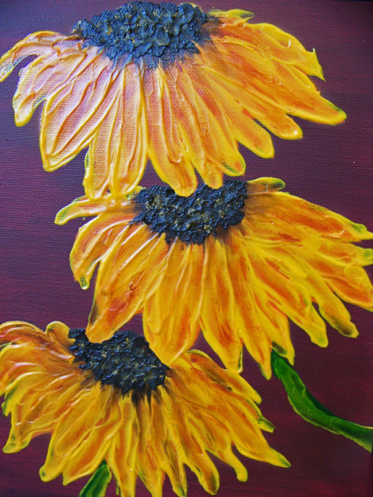 Sunflowers For Vincent III...Hommage Au0027 Vincent, Museum Profile   Painting