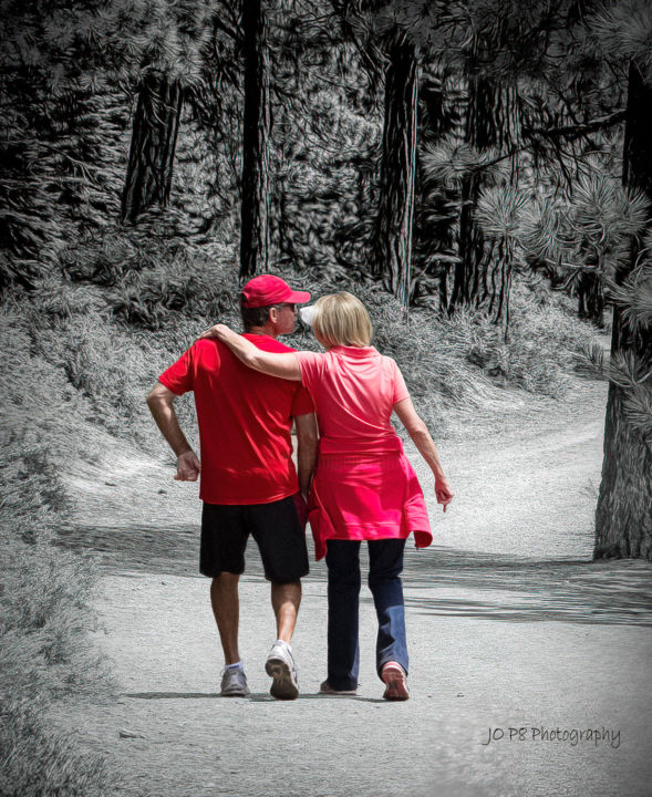 """Photography titled """"sweethearts in red"""" by Joe Pate, Original Art, Digital Photography"""