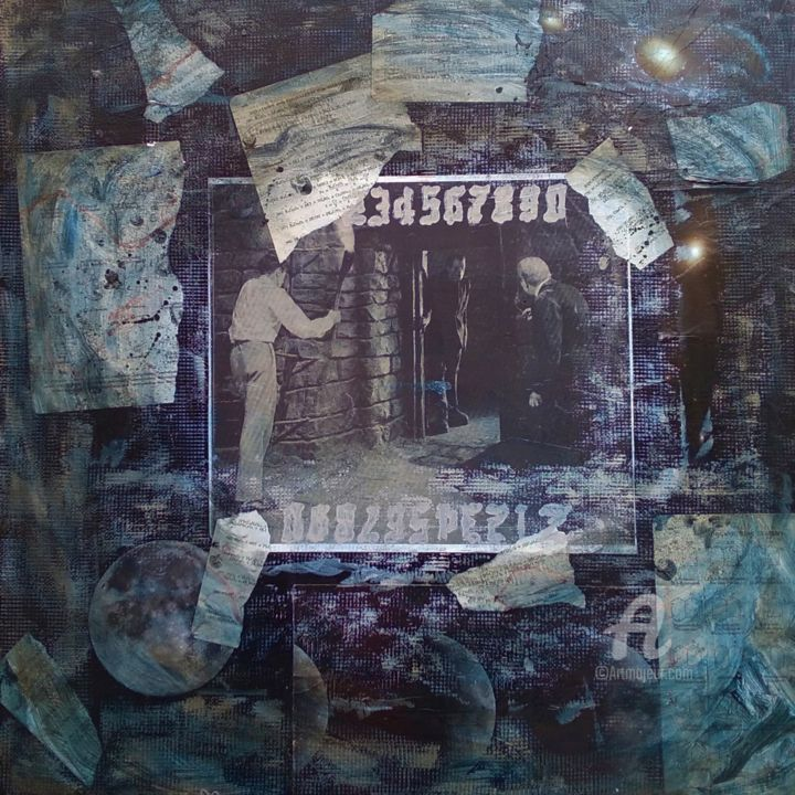 """Collages titled """"What Machinations L…"""" by John G. Merlino, Original Art, Collages"""
