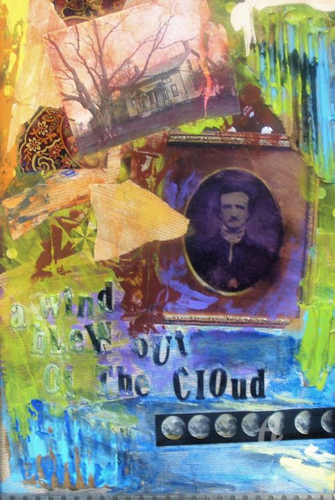 """Collages titled """"Poe II, The Dream"""" by John G. Merlino, Original Art, Collages"""