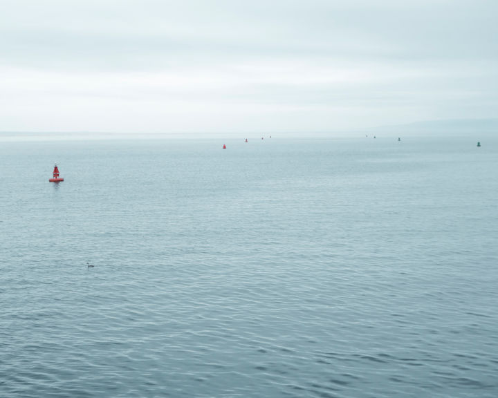 Pacific Waters - Photography,  22x30x0.1 in, ©2018 by John Manno -                                                                                                                                                                                                                                                                                                                                                                                                                                                                              Landscape, Nature, Water, water, ocean, sea, pacific, blue, horizon, seascape