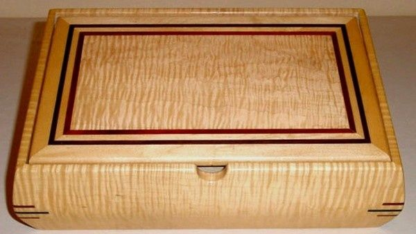 Custom Made Curly Sugar Maple Wood Jewelry Box Johnny W Morlan