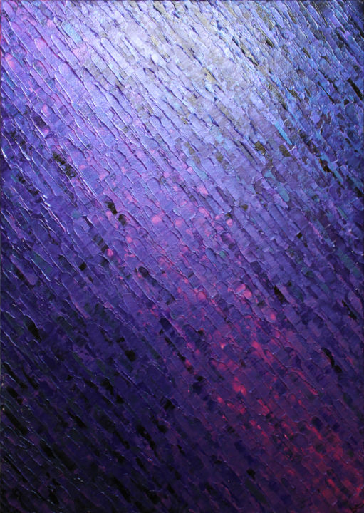 Texture couteau violacée - Painting,  27.6x19.7x0.6 in, ©2019 by Jonathan Pradillon -                                                                                                                                                                                                                                                                                                                                                                                                                                                                                                                                                                                                                                                                                                                                                                                                                                                                                                                                                                                                                                                                                                                                                                                                                                  Abstract, abstract-570, Abstract Art, Colors, Geometric, Spirituality, texture, couteau, violacé, violet, matière, acrylique, peinture, relief, couleur, iridescent, knife, painting, acrylic, matter, art, artwork, color, design, decor, abstract