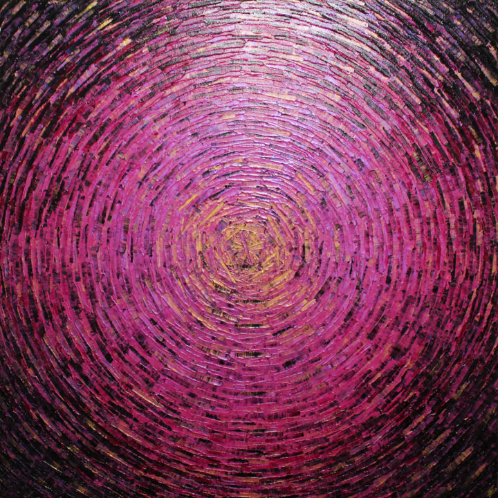 Grand éclat couleurs or rose - Painting,  31.5x31.5x0.6 in, ©2020 by Jonathan Pradillon -                                                                                                                                                                                                                                                                                                                                                                                                                                                                                                                                                                                                                                                                                                                                                                                                                                                                                                                                                                                                                                                                                                                                                                                                                                  Abstract, abstract-570, Abstract Art, Colors, Geometric, Spirituality, grand, tableau, éclat, explosion, couleurs, or, doré, rose, iridescent, toile, relief, motif, abstrait, texture, couteau, matière, acrylique, œuvre, art, originale