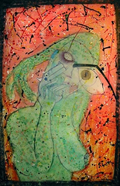 """Painting titled """"Aself @ 180 degrees"""" by Jonathan James, Original Art,"""