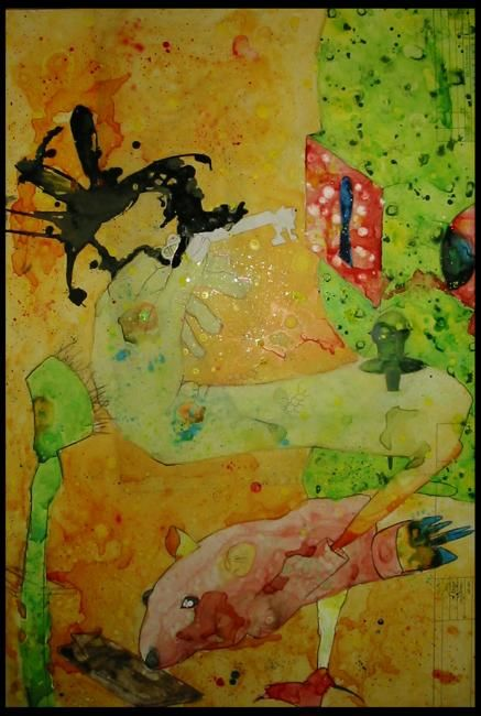 """Painting titled """"To be human"""" by Jonathan James, Original Art,"""