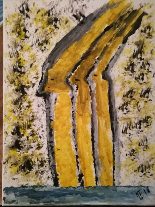 The yellows. - Painting ©2018 by Jonni Ekdahl -            the, yellow
