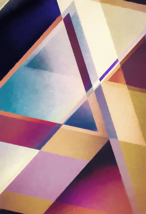Composition des Pyramides - Digital Arts, ©2019 by Jon Woodhams -                                                                                                                                                                                                                                                                                                                                                                                                                                                                                                                                                                                                                                                                                                                                                                                                                                                                                                                                                          Abstract, abstract-570, Abstract Art, Geometric, abstract art, abstract, triangles, pyramids, geometric, modern art, contemporary art, digital art, geometric art, angles, oblique, woodhams, jon woodhams, even better on your wall, digital abstract art, digital painting