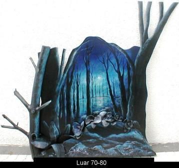 luar - Painting,  21.7x31.5 in, ©2004 by Jorgemiguele -                                                              World Culture