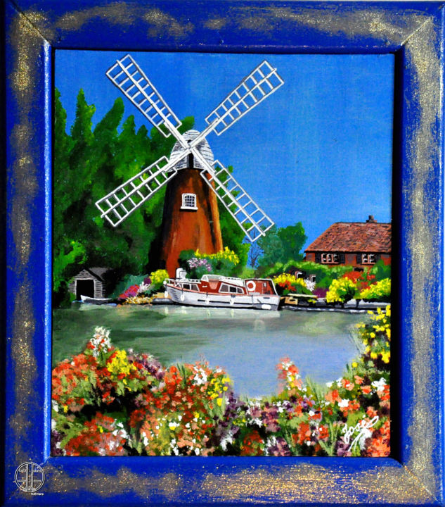 Moulin de Hollande - Painting ©2014 by josé -