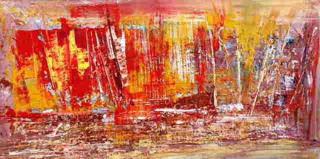 Painting,  40 x 60 cm ©2007 by Jose Curti -  Painting, Abstract Painting, voiles, paysage