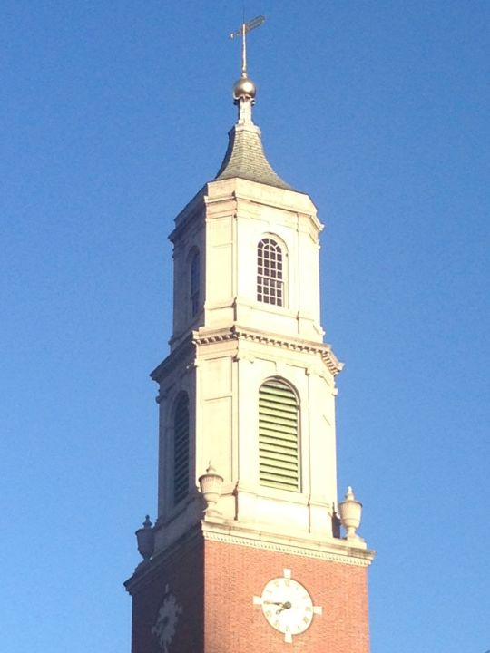 """Photography titled """"Church Tower Agains…"""" by Joshua De Sola Mendes, Original Art, Digital Photography"""