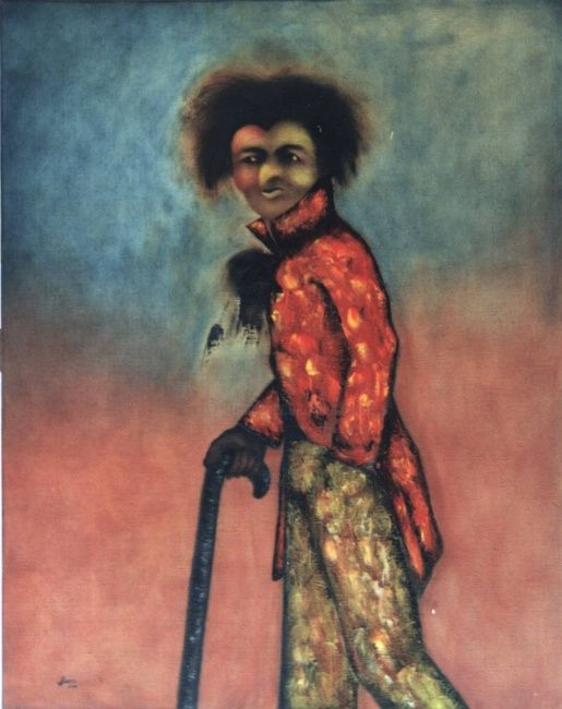 Le dandy - Painting,  92x73 cm ©2004 by Joshua -