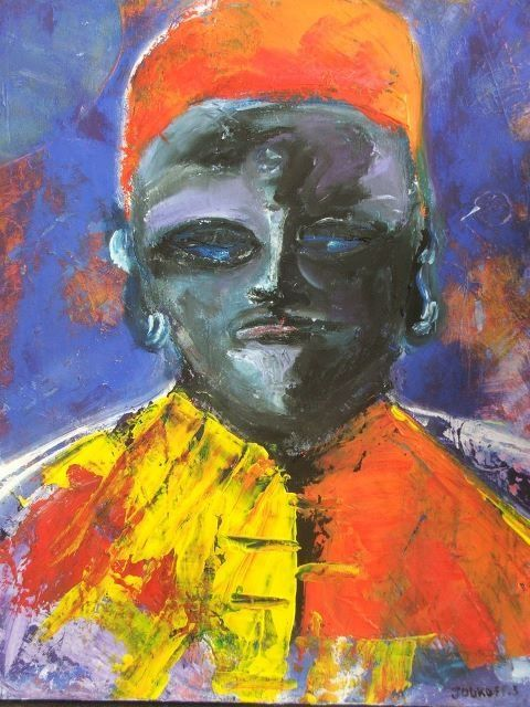 guerrier - Painting ©2012 by Stephane Joukoff -