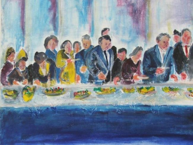 le banquet - Painting ©2012 by Stephane Joukoff -