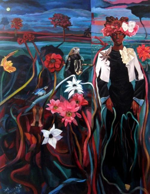 Life Support - Painting,  40x30 in ©2010 by Joyce Owens -