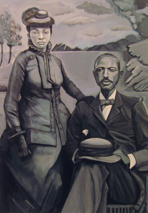 Cleo Wilson's great grandparents - Painting, ©2015 by Joyce Owens -