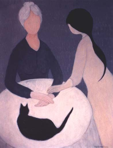 """Painting titled """"Two Women With the…"""" by Joy Zemel Long, Original Art,"""