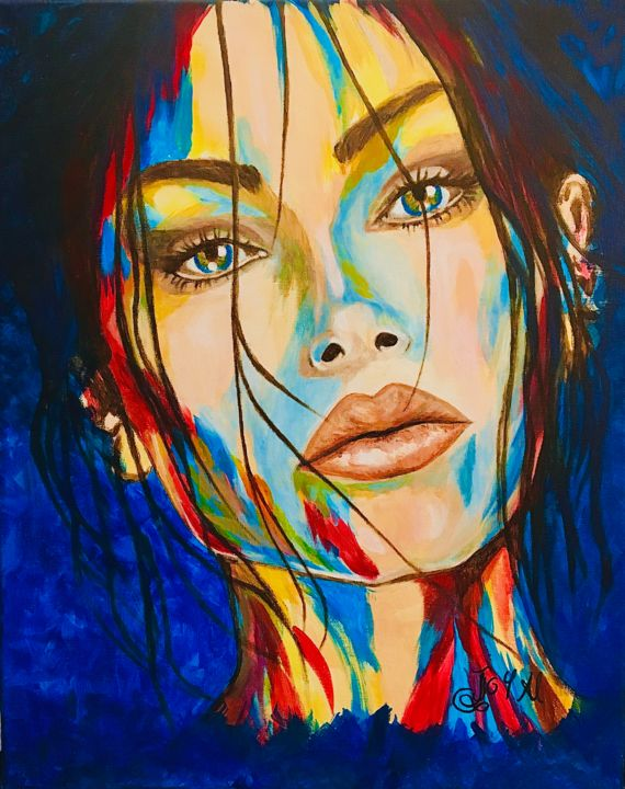 """Painting titled """"Not This Time"""" by Joy Al, Original Art, Acrylic"""