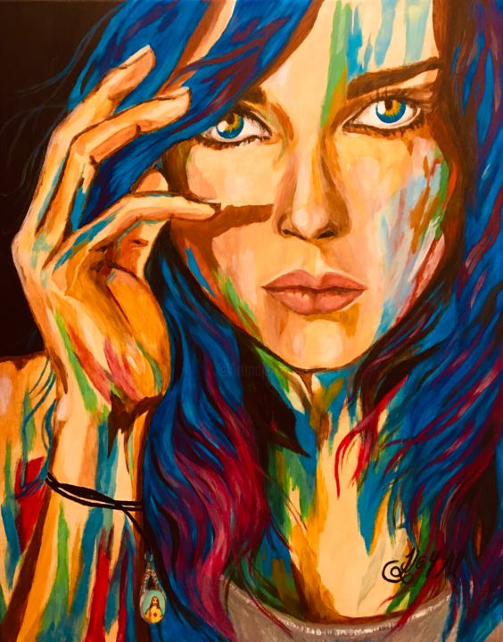 """Painting titled """"Only Me"""" by Joy Al, Original Art, Acrylic"""