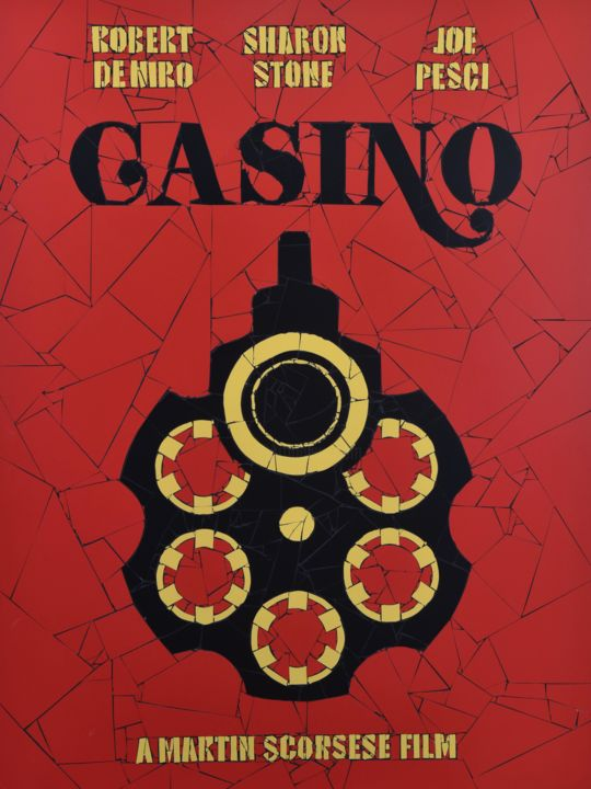 casino.jpg - Sculpture,  32.3x24.4x0.8 in, ©2016 by J P Lavernot -                                                                                                                                                                                                                                                                                                                                                                  Pop Art, pop-art-615, Ceramic, Cinema, mosaïque, cinema, casino