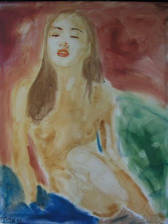 """Painting titled """"Birth of the Soul"""" by Jean-Paul Setlak, Original Art,"""