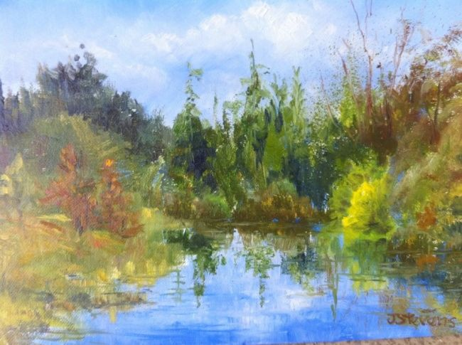 January in South Florida - Painting, ©2013 by Julia Stevens -