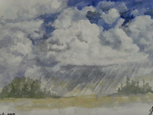 Summer Shower - Painting, ©2013 by Julia Stevens -