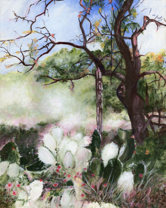 """Painting titled """"Peaceful Country"""" by J S Ellington, Original Art, Acrylic"""