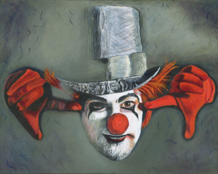 """Painting titled """"Insights of a Fool"""" by J S Ellington, Original Art, Acrylic"""
