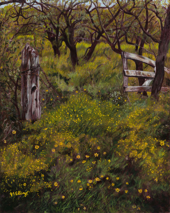 """Painting titled """"Gateway to the Past"""" by J S Ellington, Original Art, Acrylic"""