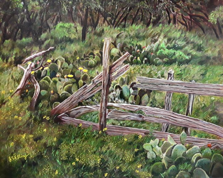 """Painting titled """"Remnants of a Time…"""" by J S Ellington, Original Art, Acrylic"""