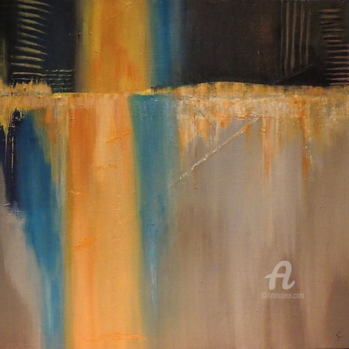 """Painting titled """"The Quay"""" by Judith Cahill, Original Art, Acrylic"""