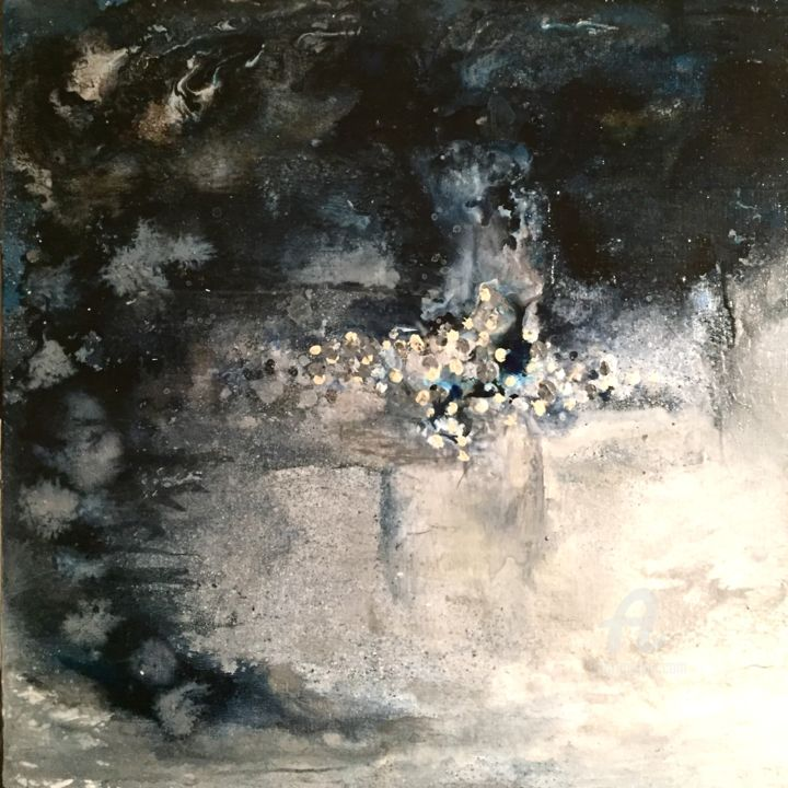 """Painting titled """"Blue Turns to Grey"""" by Judith Cahill, Original Art, Acrylic"""