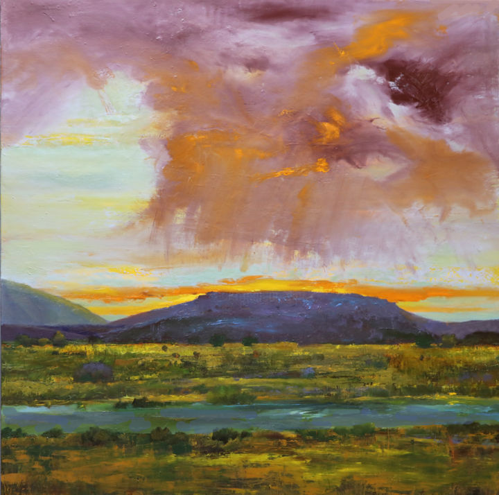 """Painting titled """"Rio Grande 2"""" by Judith D'Agostino, Original Art, Oil"""