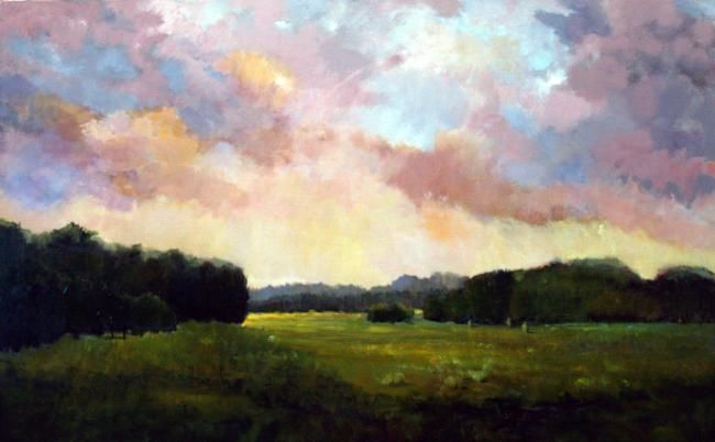 """Painting titled """"Magic Sky"""" by Judith D'Agostino, Original Art,"""