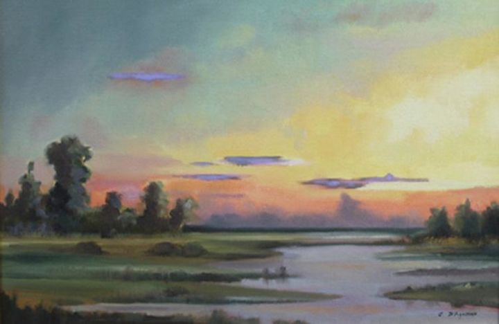"""Painting titled """"Last Light #2"""" by Judith D'Agostino, Original Art, Oil"""