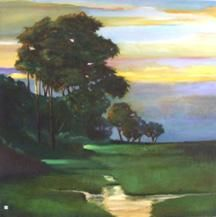 """Painting titled """"Drifiting Into Nigh…"""" by Judith D'Agostino, Original Art, Oil"""