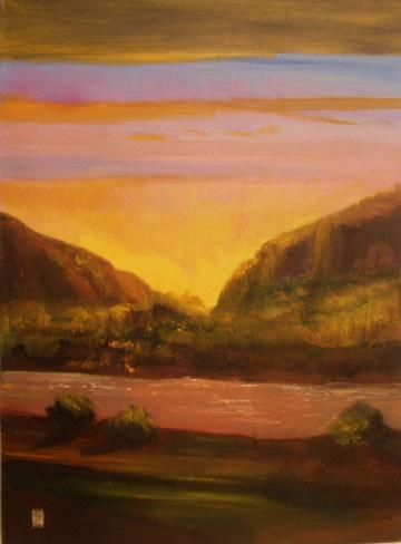 """Painting titled """"Rio Grande"""" by Judith D'Agostino, Original Art, Oil"""
