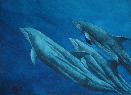 """Painting titled """"Out of the Blue"""" by Judy Leach, Original Art, Oil"""
