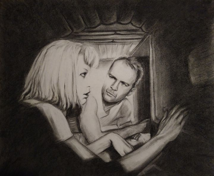 """Drawing titled """"the fifth Element P…"""" by Julia Lihina, Original Art, Charcoal"""