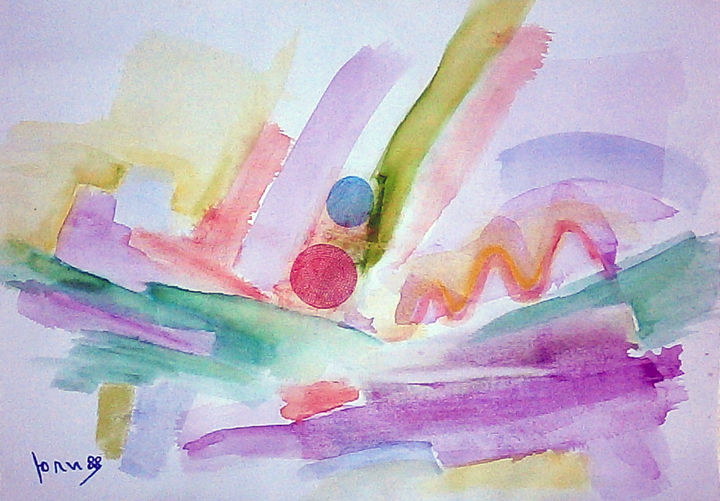 """Painting titled """"abstract landscape V"""" by July, Original Art, Ink"""