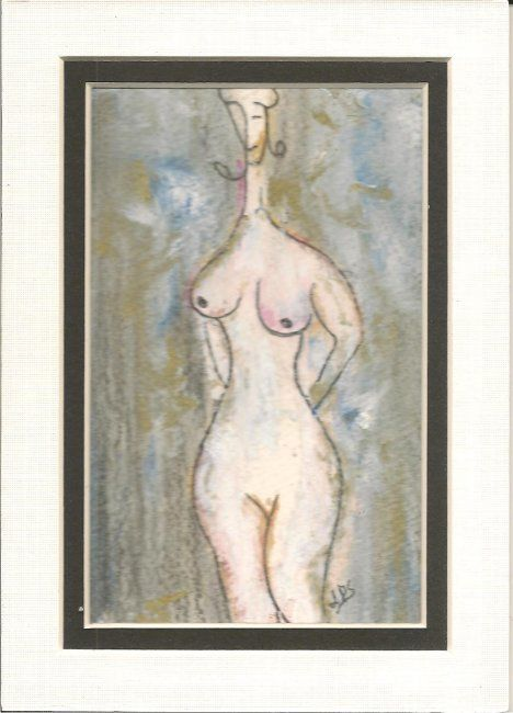 My Stance - Painting,  6x4 in, ©2011 by Juli Southmayd -