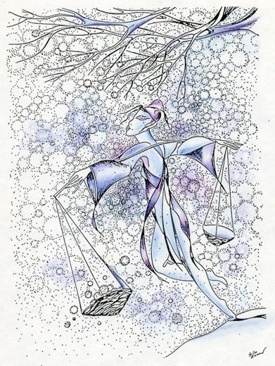Libra (24.09-23.10) - Drawing,  21x29 cm ©2007 by Julia Zisman -