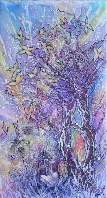 In a garden - Artcraft,  40x90 cm ©2009 by Julia Zisman -