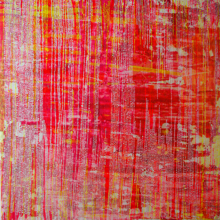 """Painting titled """"Confettis"""" by Julie Saint Jean, Original Art, Acrylic Mounted on Wood Panel"""