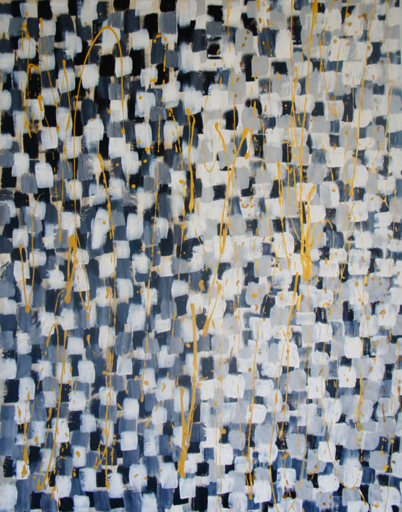"""Painting titled """"Marbres"""" by Julie Saint Jean, Original Art, Acrylic Mounted on Wood Panel"""