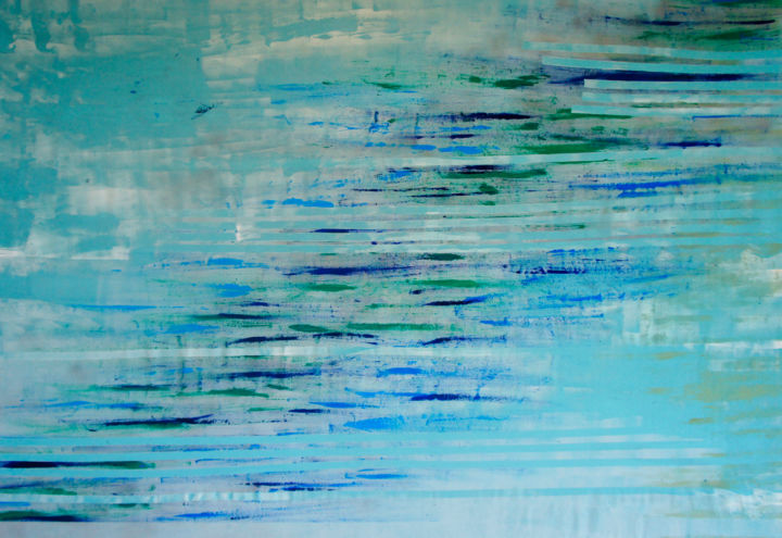 """Painting titled """"Mers"""" by Julie Saint Jean, Original Art, Acrylic Mounted on Wood Panel"""