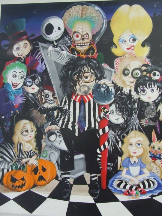 The world of Tim Burton Painting by elisabetha