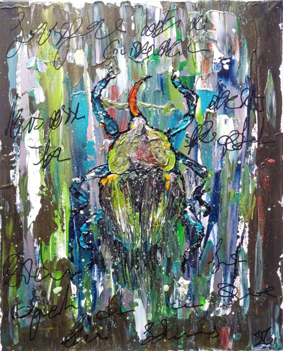 """Painting titled """"forêt"""" by Julie Maryline, Original Art, Acrylic"""